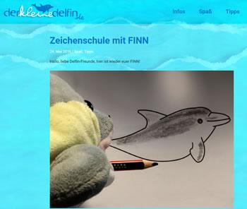 Zeichenschule mit FINN - Delfin